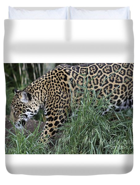 Duvet Cover featuring the photograph Jag by Gary Bridger