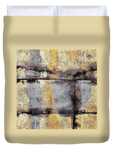Jagged Lavendar Duvet Cover by Maria Huntley