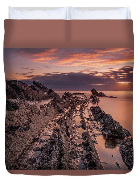 Jagged Rocks Duvet Cover