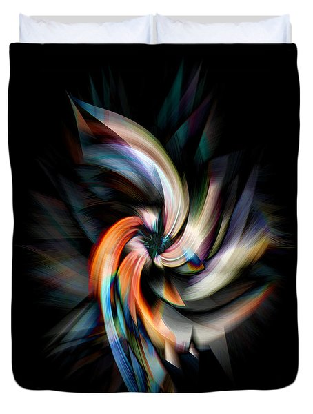 Jagged Twirl Duvet Cover by Cherie Duran