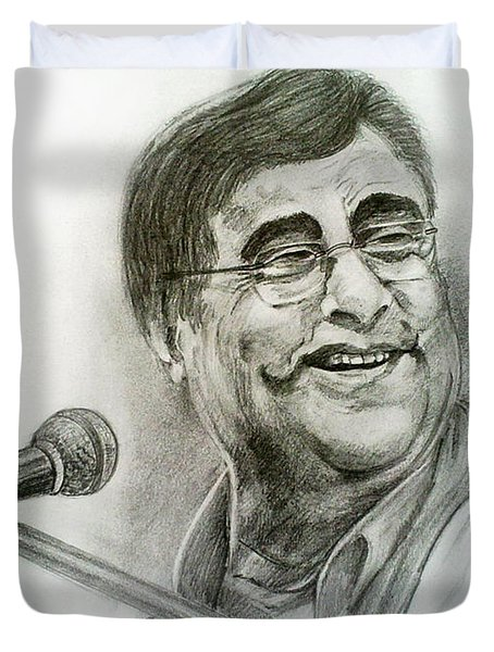 Jagjit Singh Duvet Cover by Mayur Sharma