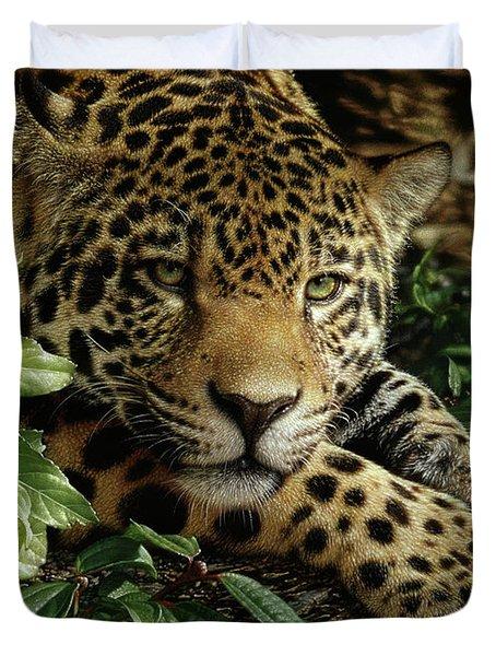 Jaguar - At Rest Duvet Cover