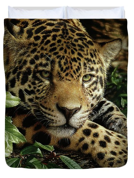 Jaguar - At Rest Duvet Cover