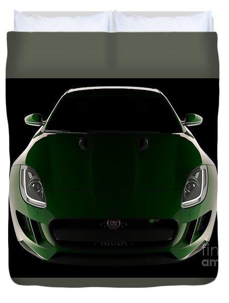 Jaguar F-type - Front View Duvet Cover