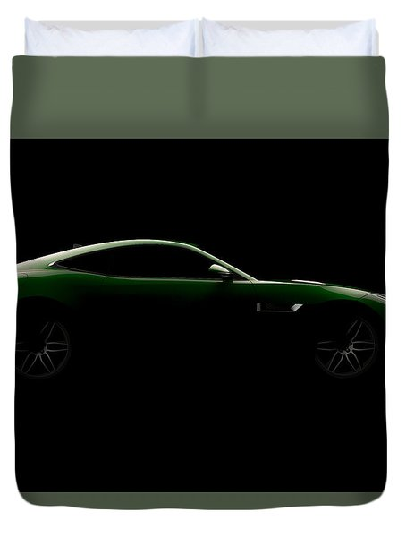 Jaguar F-type - Side View Duvet Cover