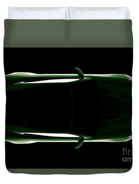Jaguar F-type - Top View Duvet Cover