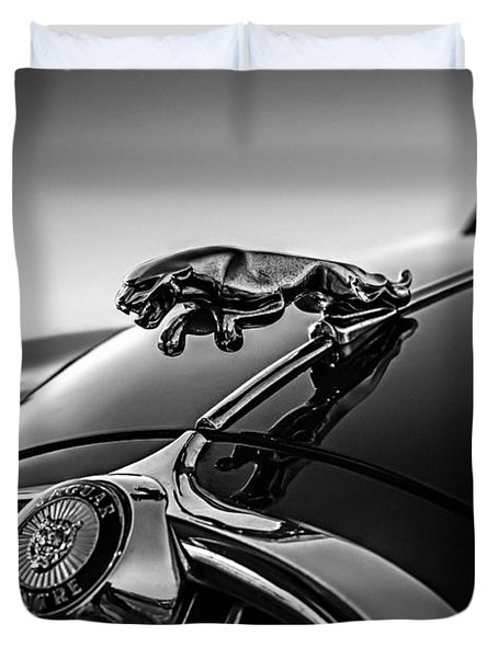Duvet Cover featuring the digital art Jaguar Mascot by Douglas Pittman