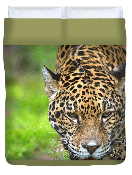 Jaguar Portrait Duvet Cover