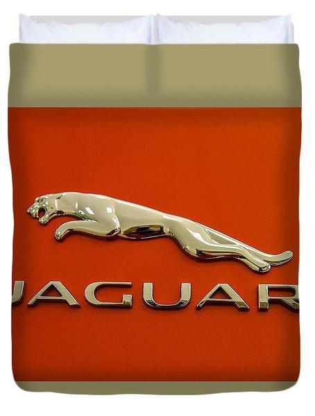 Duvet Cover featuring the photograph Jaguar by Robert Hebert