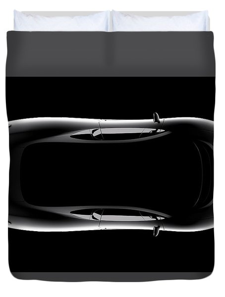 Jaguar Xj220 - Top View Duvet Cover