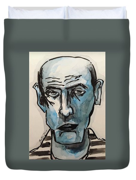 Jail's Blues Duvet Cover