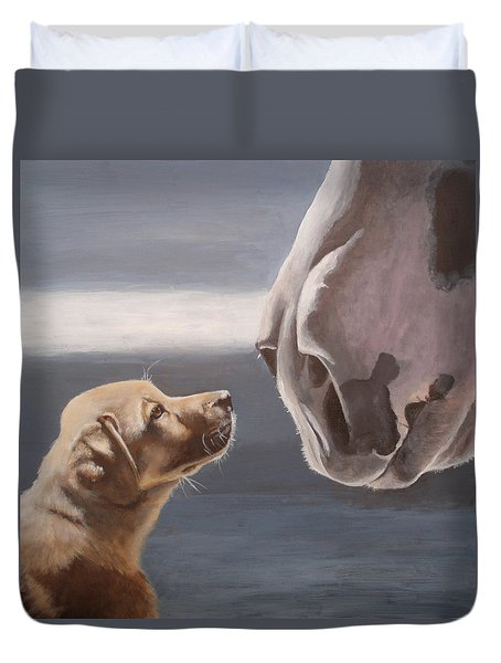 Jake And Clyde Duvet Cover