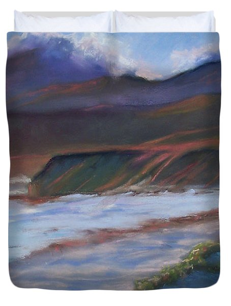 Jalama Beach At Sunset Duvet Cover by Laurie Paci