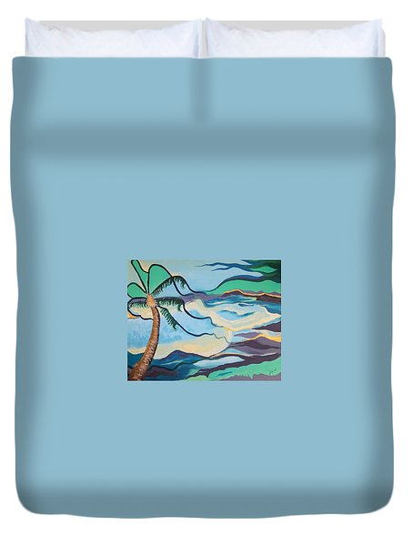 Jamaican Sea Breeze Duvet Cover