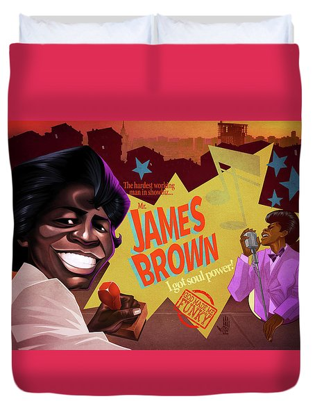 James Brown Duvet Cover by Nelson Dedos Garcia