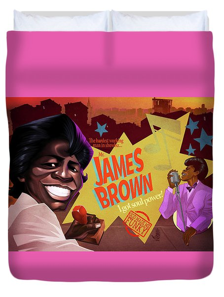 James Brown Duvet Cover