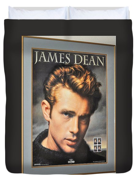 James Dean Hollywood Legend Duvet Cover