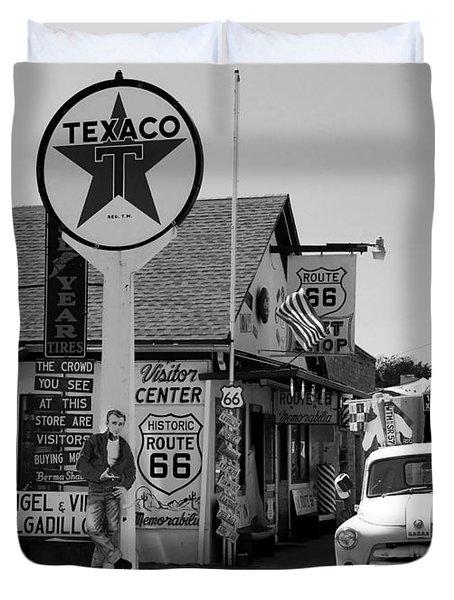 James Dean On Route 66 Duvet Cover
