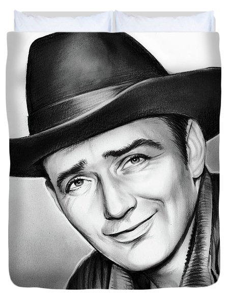 James Drury Duvet Cover