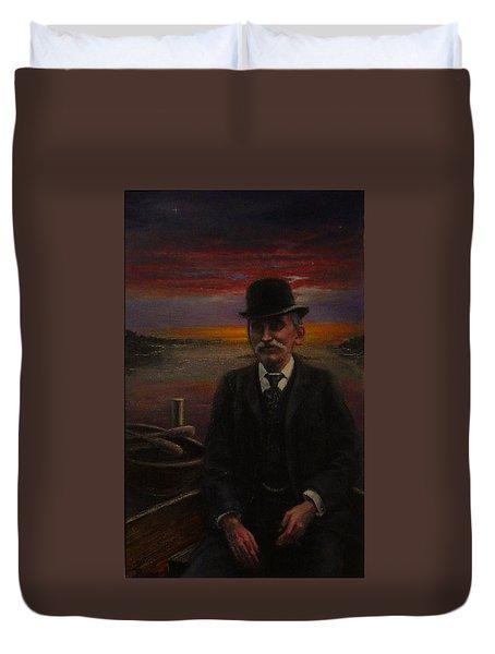 James E. Bayles Sunset Years Duvet Cover