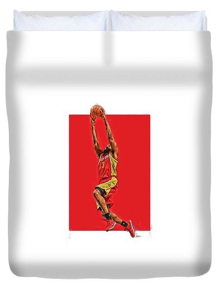 James Harden Houston Rockets Oil Art Duvet Cover