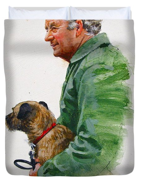 James Herriot And Bodie Duvet Cover