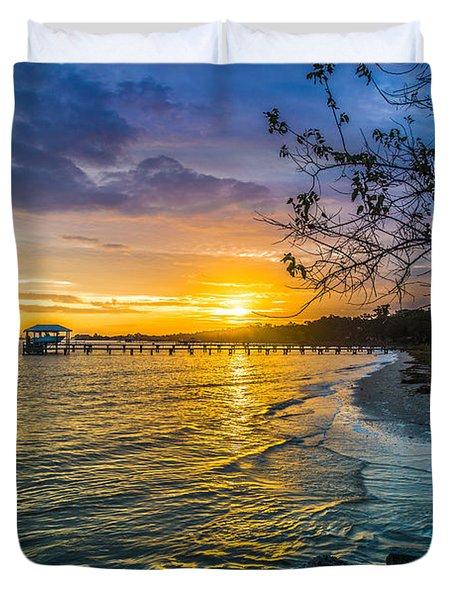 James Island Sunrise - Melton Peter Demetre Park Duvet Cover