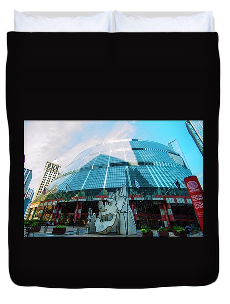 James R. Thompson Center Chicago Duvet Cover
