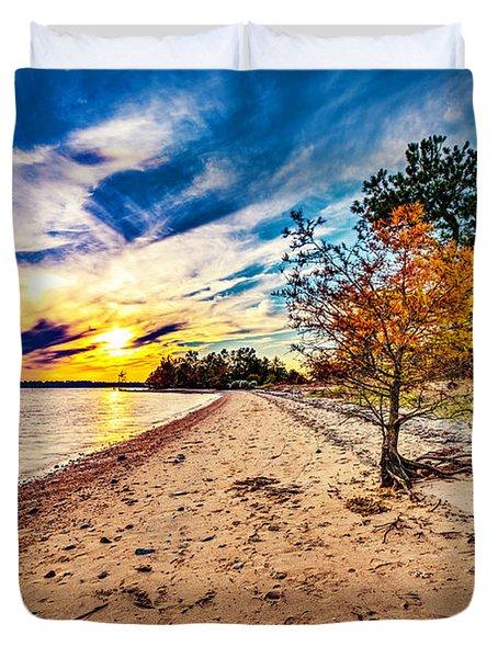 James River Sunset Duvet Cover