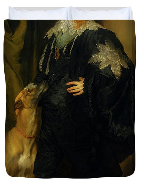 Duvet Cover featuring the painting James Stuart - Duke Of Richmond And Lennox                       by Anthony Van Dyck