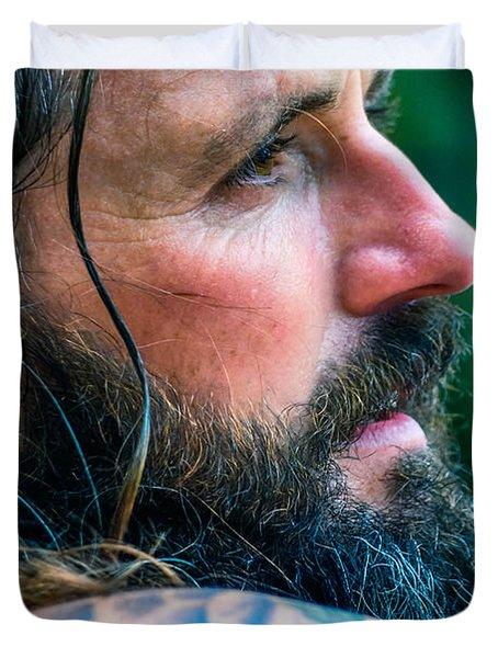 Duvet Cover featuring the photograph Jamesie 2 by Brian Stevens