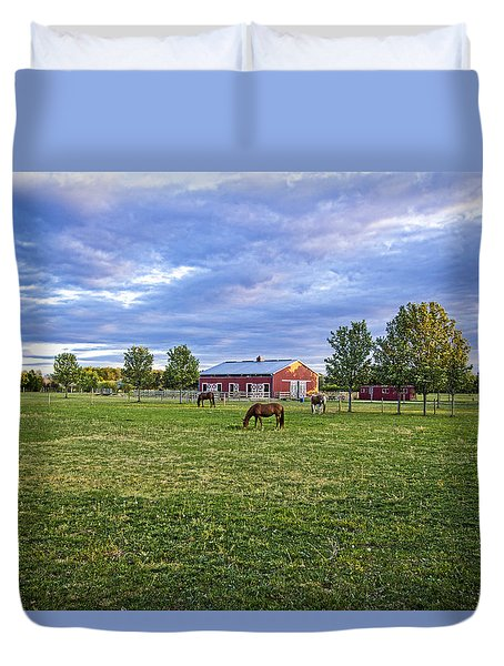 Jamesport Saddle Club Duvet Cover