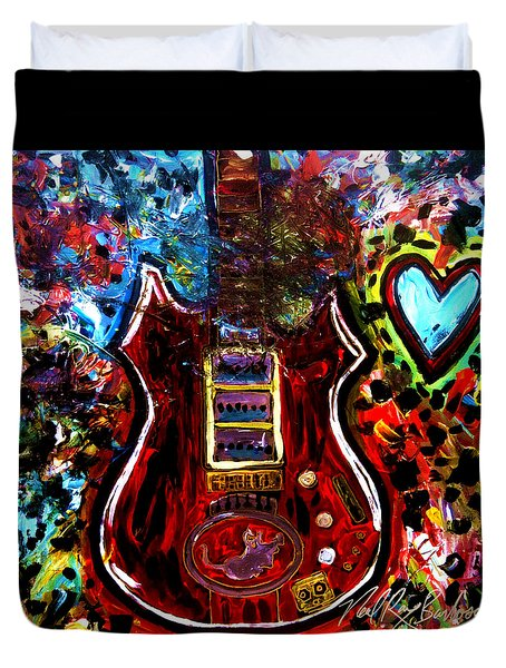 Jaming With Garcia Duvet Cover