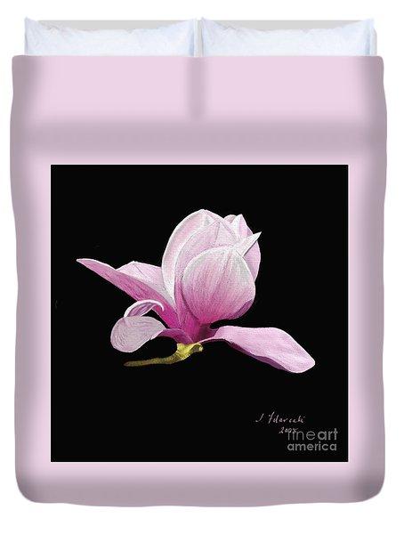 Japanese Magnolia Floral Duvet Cover