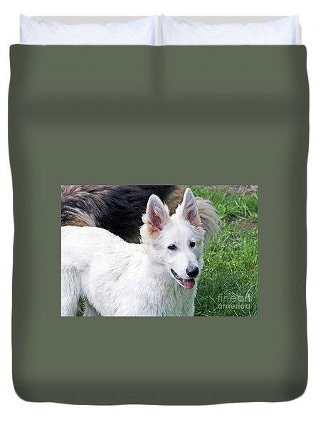 Janie As A Pup Duvet Cover
