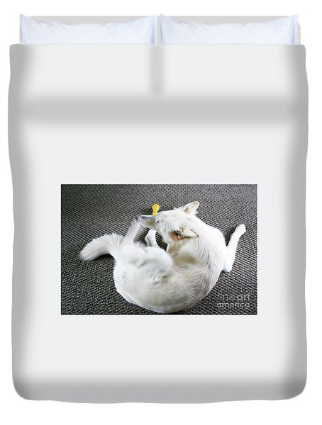 Janie Is A Painey Duvet Cover