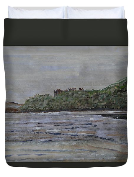 Duvet Cover featuring the painting Janjira Palace by Vikram Singh