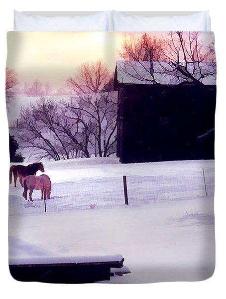 January At Jackson's Duvet Cover