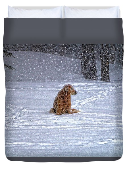 January Blizzard Duvet Cover by Elizabeth Dow