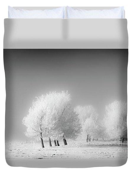 January Frost Duvet Cover by Dan Jurak