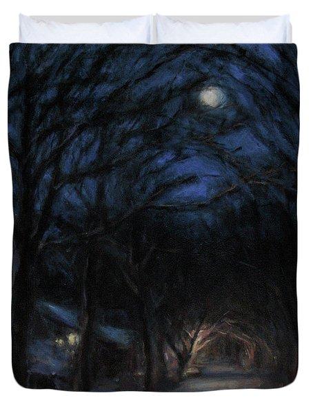 January Moon Duvet Cover by Sarah Yuster