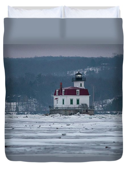January Morning At Esopus Light Duvet Cover