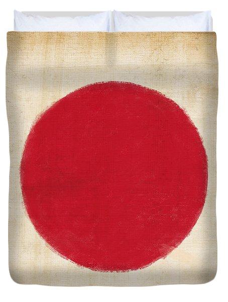 Japan Flag Duvet Cover by Setsiri Silapasuwanchai