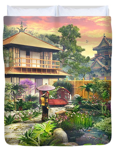 Japan Garden Variant 2 Duvet Cover