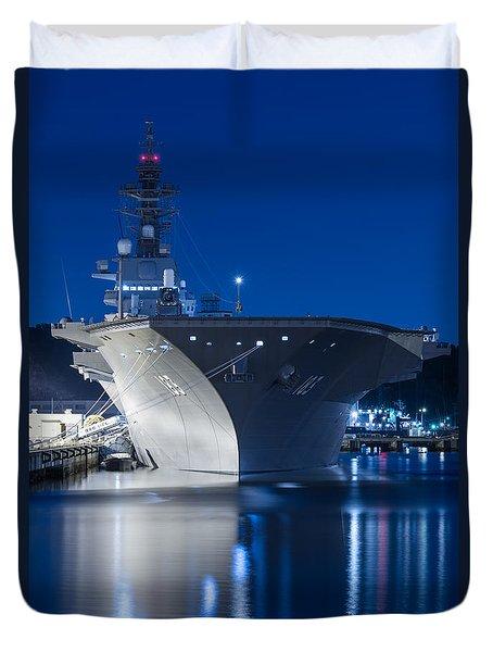 Japan Naval Ship Ddh-183 Izumo Duvet Cover by Kai Ayase