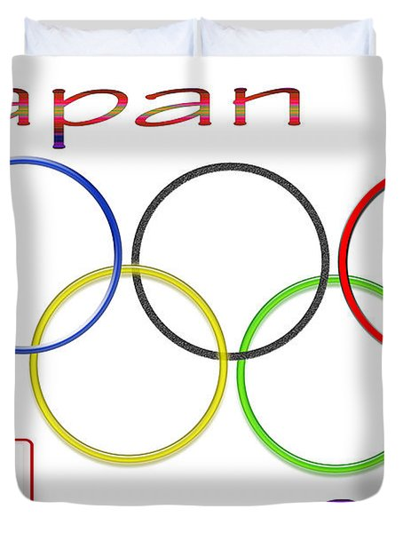Japan Olympics 2020 Logo 3 Of 3 Duvet Cover