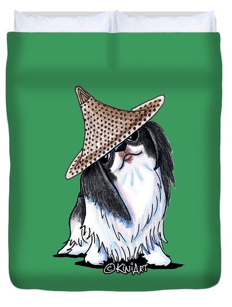 Japanese Chin  Duvet Cover