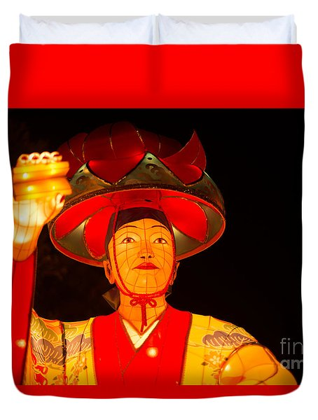 Japanese Dancer Lantern 2 Duvet Cover