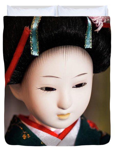 Japanese Doll Duvet Cover