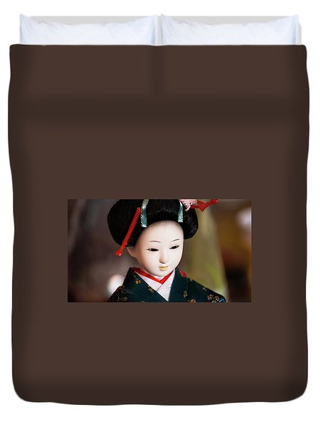 Japanese Doll Duvet Cover